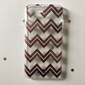 Rose Gold Chevron Kate Spade iPhone 8 Plus Case